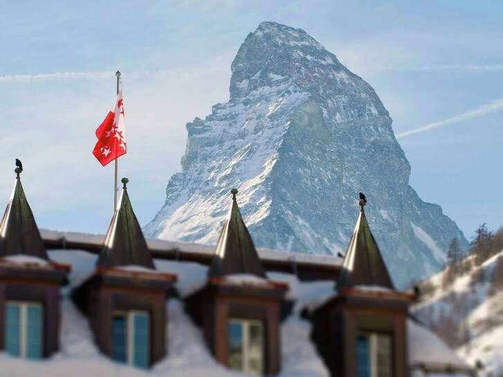 Mont Cervin Palace in Zermatt lies at the foot of the Matterhorn.
