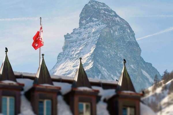 Mont Cervin Palace in Zermatt lies at the foot of the Matterhorn.