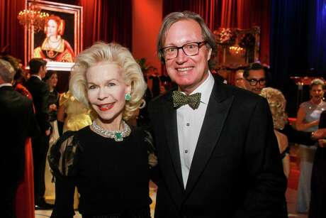 Lynn Wyatt and Ron Franklin at the Museum of Fine Arts, Houston's Courtly Ball.
