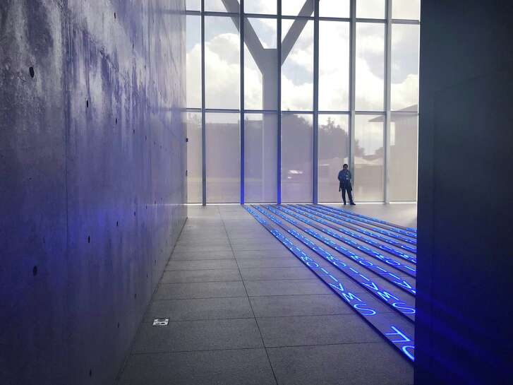"Jenny Holzer's installation ""Kind of Blue"" is among numerous works by women artists on view in the Modern Art Museum of Fort Worth."