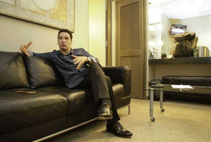 Houston Symphony conductor Andrés Orozco-Estrada in his dressing room after a performance at Jones Hall