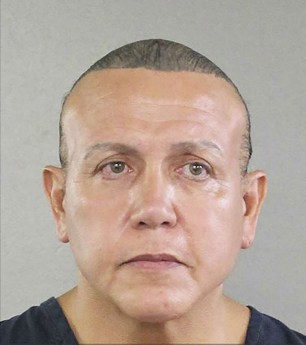 A photo provided by the Broward County Sheriff's Office of Cesar Sayoc Jr., the man suspected of mailing a dozen parcel bombs to critics of President Donald Trump in 2018. The estranged family of Sayoc tried to plead with him on Sunday to accept mental health care and hire a proficient lawyer to represent him in the case, which could lead to his imprisonment for decades. (Broward County Sheriff's Office via The New York Times) -- FOR EDITORIAL USE ONLY --