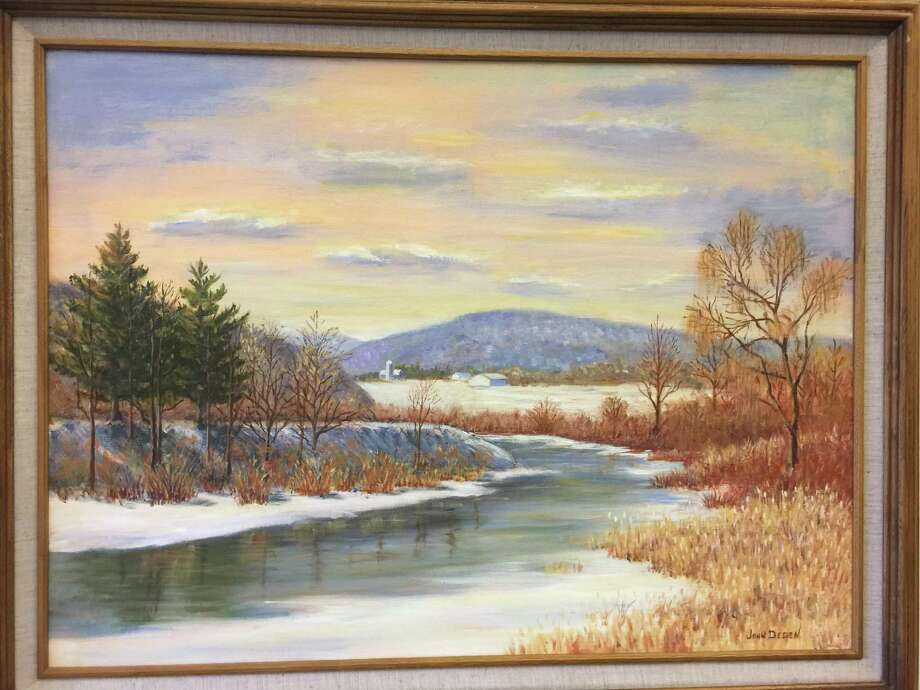 Paintings and other art will be the focus of a new show at the Russell Library in Middletown, opening Friday with a reception. Above, a painting by John Deden. Photo: Contributed Photo /
