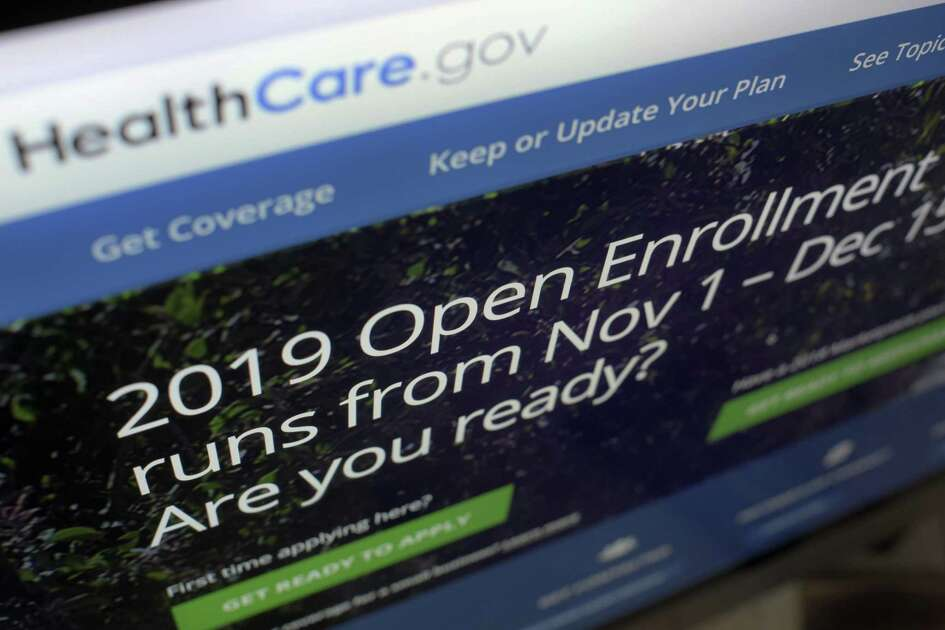 This Tuesday, Oct. 23, 2018 photo shows HealthCare.gov website on a computer screen in New York. The sign-up period for next year?'s individual health insurance coverage runs from Nov. 1 to Dec. 15. Picking a plan can initially involve several trips to websites like healthcare.gov just to understand the options. Shoppers who want to stick with the same plan must scrutinize it for changes. (AP Photo/Patrick Sison)