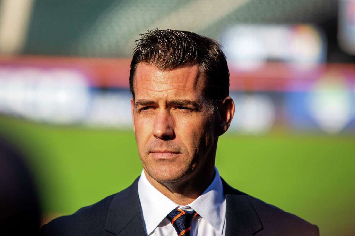 Brodie Van Wagenen is introduced as the New York Mets?' general manager, at Citi Field in Queens, Oct. 30, 2018. Van Wagenen is a prominent agent with no experience as a team executive, but has represented at least four Mets players. Three years removed from their World Series trip in 2015, the Mets have posted two straight losing seasons. (Demetrius Freeman/The New York Times)