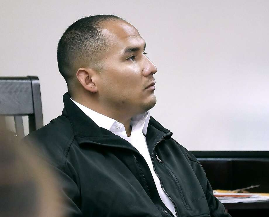 Justin Jerman Hernandez sits in the 406th District Courtroom, Tuesday, October 30, 2018, where he is on trial on a murder charge in connection to the fatal beating of local businessman Hector Benavides. Photo: Cuate Santos, Laredo Morning Times