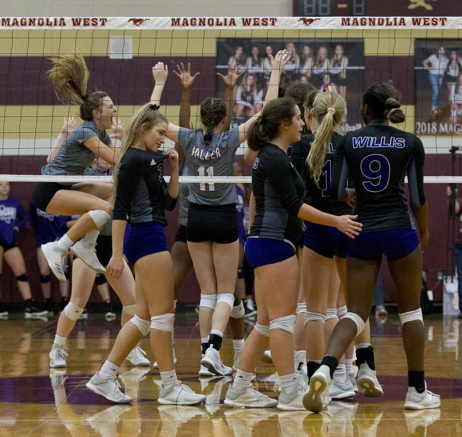 Willis players react after being defeated by Waller 3-1 during a Region III-5A bi-district playoff match at Magnolia West High School, Tuesday, Oct. 30, 2018, in Magnolia. Photo: Jason Fochtman/Staff Photographer