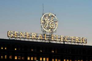 The General Electric sign is seen from Edison Avenue on Thursday, Aug. 9, 2018, in Schenectady, N.Y. (Will Waldron/Times Union)