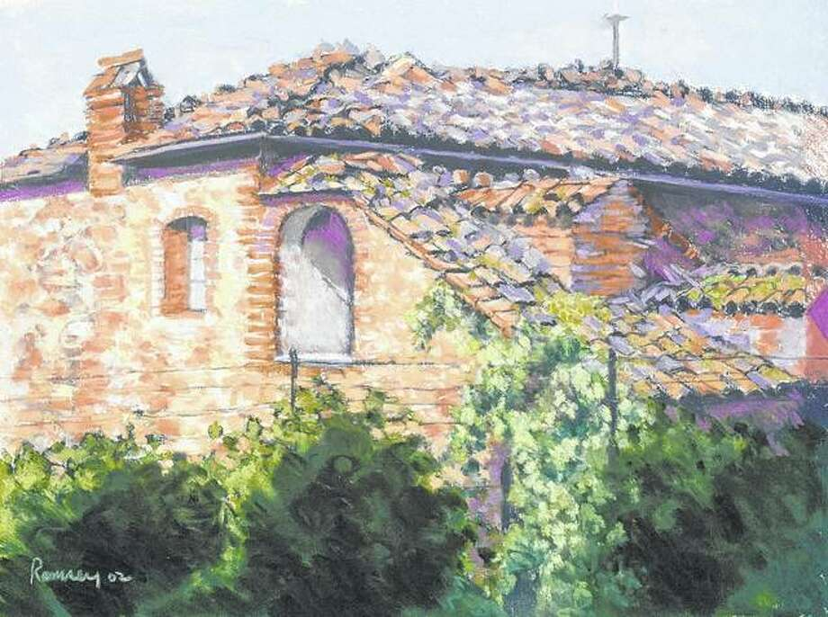 """""""Tuscan Winery,"""" a painting by Springfield artist Sheri Ramsey, is among art that will be featured Nov. 7 during an """"Art and Dine"""" event at Lonzerotti's restaurant. Art by Ramsey and her husband, Don, will be featured during the dinner, and the Ramseys will be on hand to answer questions about their work. Photo: Photo Provided"""