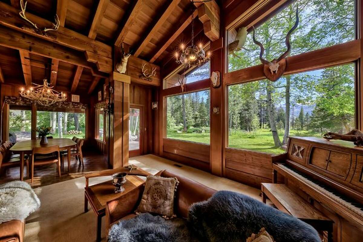 The hand-crafted estate of Squaw Valley Founders, Wayne and Sandy Poulsen sits on nearly 30 acres of aspen and pine groves. It's listed for $15 million with Valerie Forte of Engel & Völkers Truckee.