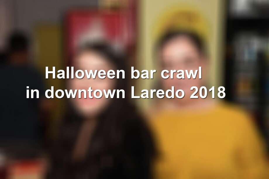 Keep scrolling to see the best scenes from this year's Halloween bar crawl in downtown Laredo. Photo: Christian Alejandro Ocampo