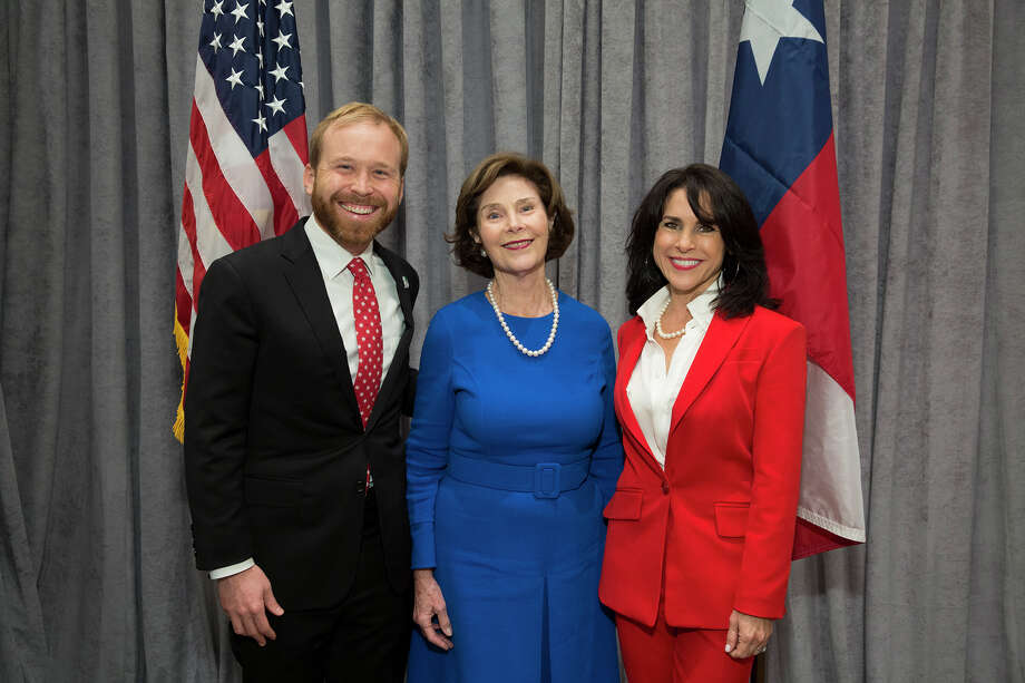 Pierce Bush, Laura Bush and Maria Bush Photo: Jenny Antill And Daniel Ortiz