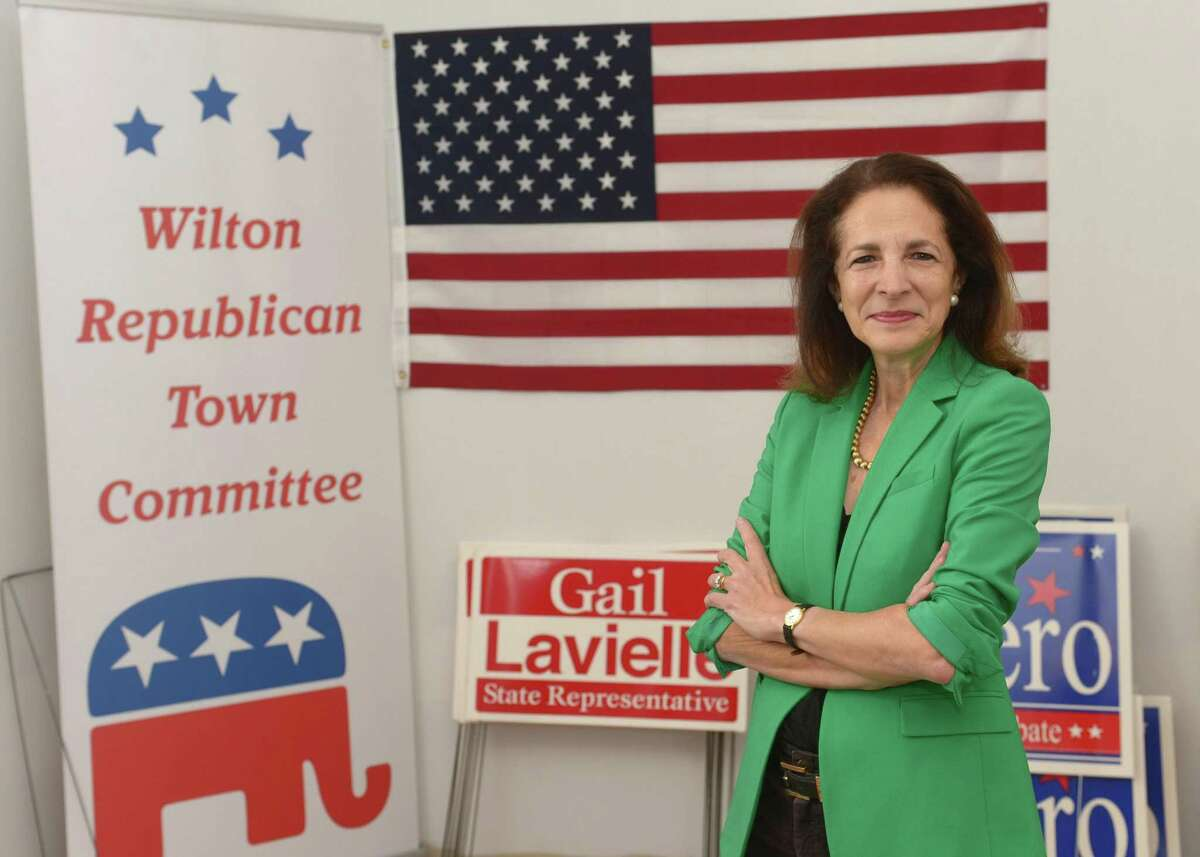 Incumbent Republican Gail Lavielle, State Representative for the 143rd Assembly District, at the Wilton Republican HQ on Danbury Road in Wilton, Conn.
