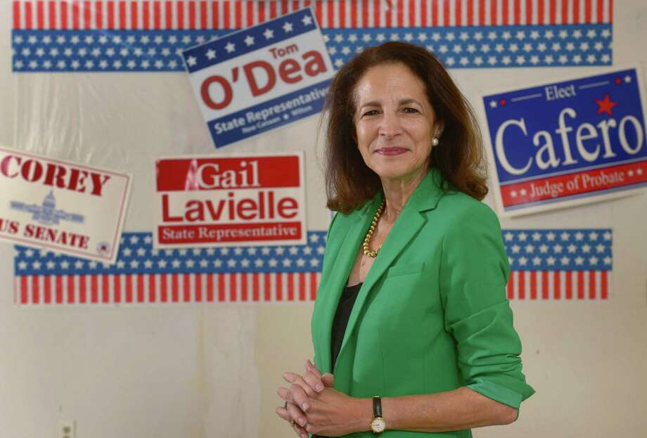 Incumbent Republican Gail Lavielle, State Representative for the 143rd Assembly District, at the Wilton Republican HQ on Danbury Road in Wilton, Conn. Photo: Erik Trautmann / Hearst Connecticut Media / Norwalk Hour