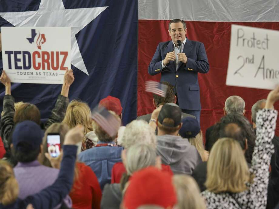U.S. Senator Ted Cruz speaks 10/31/18 during a campaign stop at the George H.W. Bush Commemorative Center at the CAF. Tim Fischer/Reporter-Telegram Photo: Tim Fischer/Midland Reporter-Telegram