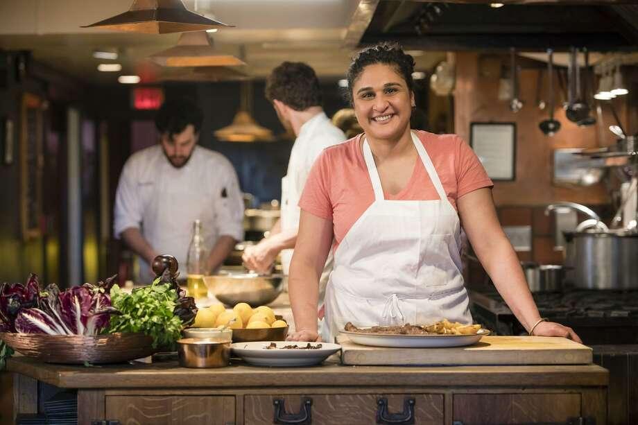 "On ""Salt Fat Acid Heat,"" her new Netflix show, Samin Nosrat breaks down cooking to these four key elements. Photo: Netflix"