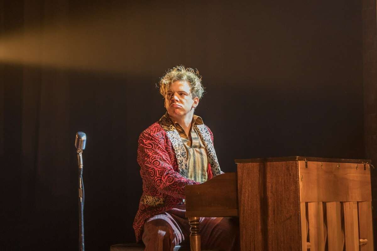 """Jefferson McDoanld as Jerry Lee Lewis in """"Million Dollar Quartet"""" at Cohoes Music Hall."""