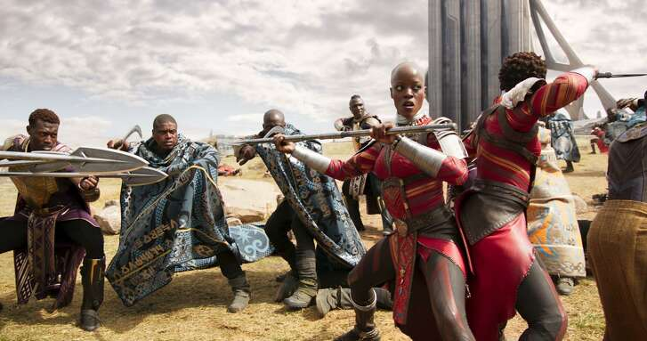 """Discovery Green screens Black Panther"""" on Saturday."""