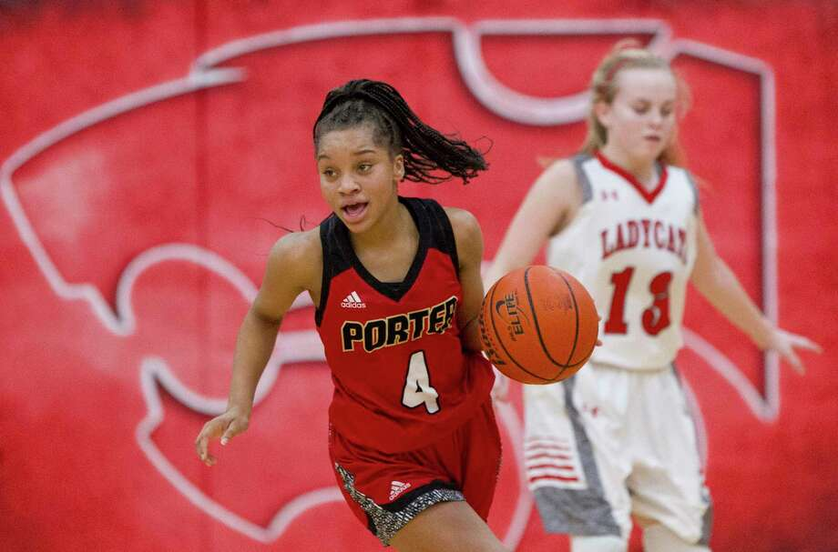 Porter guard Mikayla Scott (4) is one of the top returning players for the Lady Spartans this season. Photo: Jason Fochtman, Staff Photographer / Houston Chronicle / © 2017 Houston Chronicle