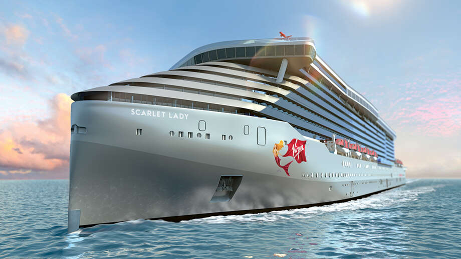 Virgin Voyages first ship, The Scarlet Lady, is under construction in Italy and due to sail in 2020. Photo: Virgin Voyages