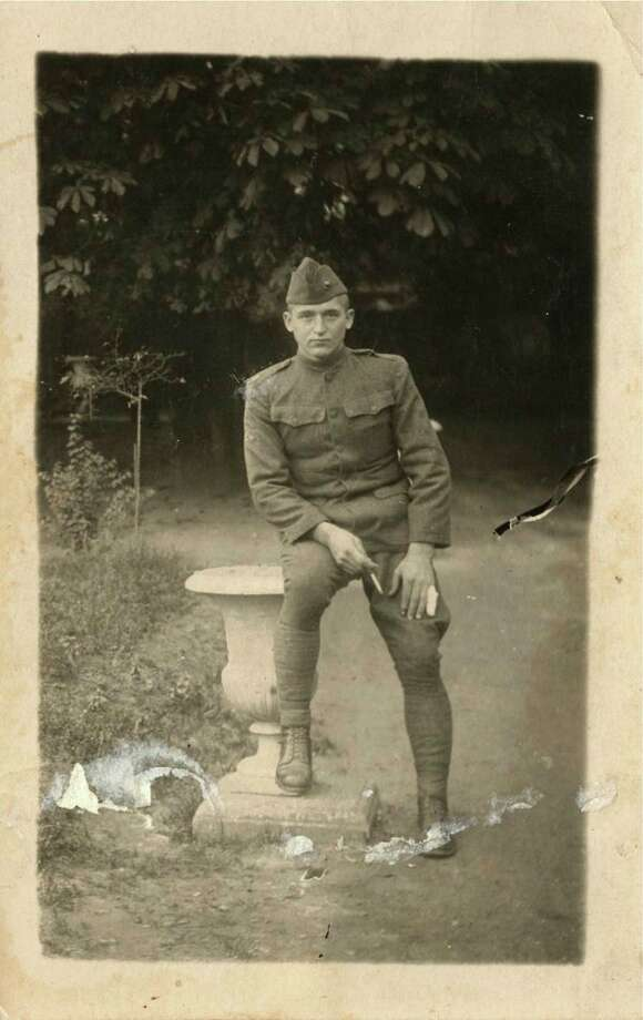 This is Harry Gay in France in 1918 during World War I. He was a gunnery sergeant with the 5th Regiment of the United States Marine Corps 2nd Army Division. He survived the Battle of Belleau Woods, the ending of the St. Mihiel battle and the Meuse-Argonne Campaign and participated in the occupation of Germany after a the war ended.
