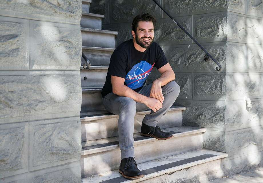 Haight-Ashbury Neighbors for Density founder and organizer Philip Kobernick poses for a portrait while sitting on his front steps in San Francisco. Photo: Jessica Christian / The Chronicle