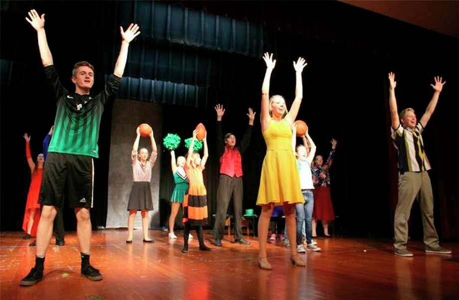Laker students practice a song in the musical 'Do You Wanna Dance?', which will be performed at 7 p.m. Nov. 8-11 at the Laker auditorium. (Submitted Photo)