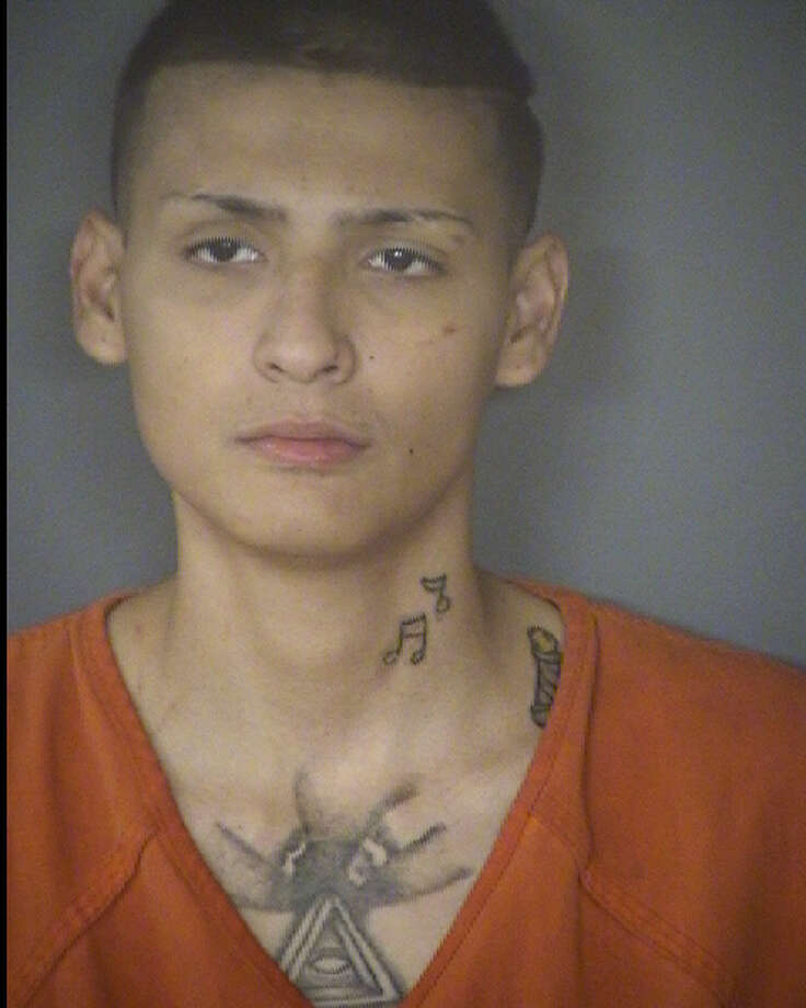 George Penalver, 23, is accused of aggravated robbery. Photo: Bexar County Jail