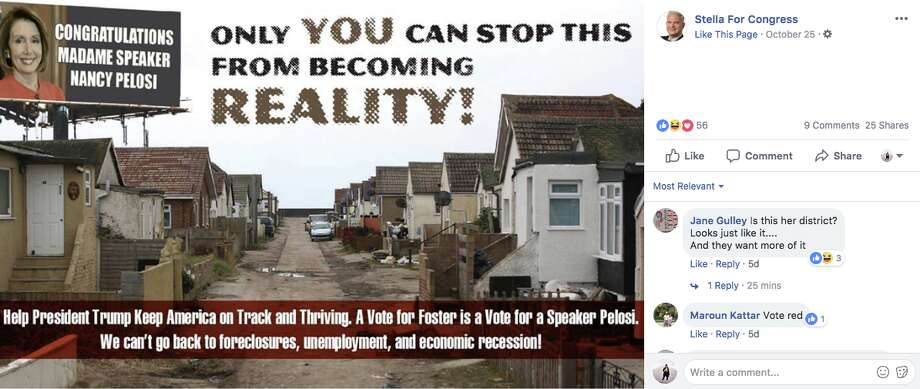 Nick Stella, who faces incumbent Rep. Bill Foster (D-Illinois) in the midterms, recently ran an ad attacking his opponent. The ad features an image of a small, coastal village in England. Photo: Stella For Congress/Facebook