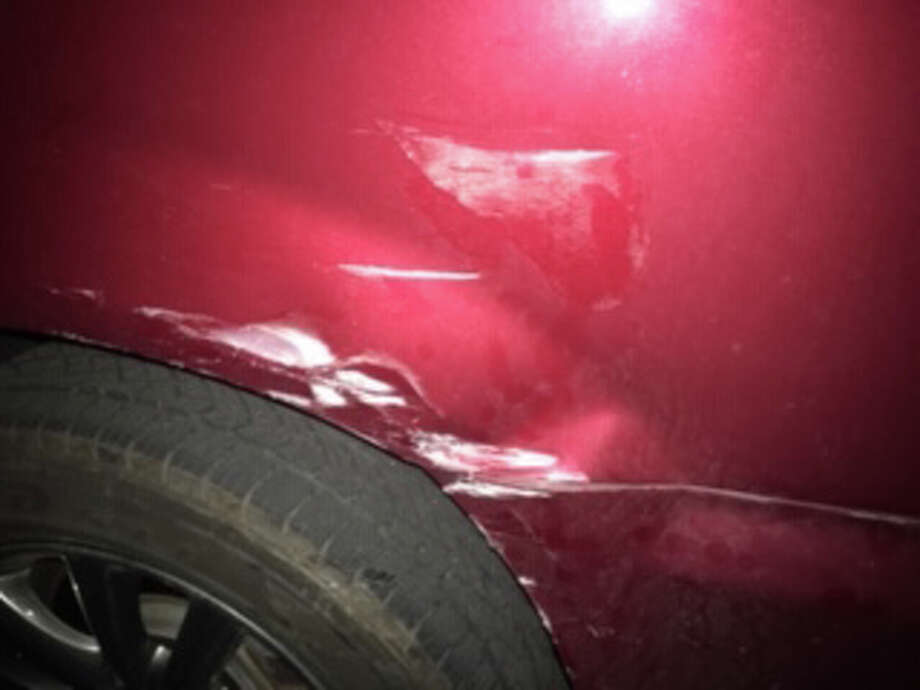 A van sustained $2,300 in damage when it was struck last June by a vehicle driven by Family Court Judge Margaret T. Walsh. Photo: Handout Photo