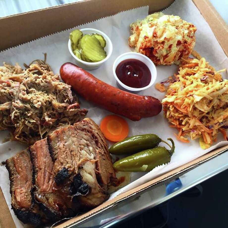 """Duncan describes his BBQ as """"Central Texas Style, Low & Slow 14 hour Smoked Briskets"""" and offers sandwiches, tacos, nachos, and baked potatoes, with more items like beef ribs, Smoked turkey and boudin planned for the Katy location's menu. Photo: Courtesy Daddy's Duncan BBQ"""