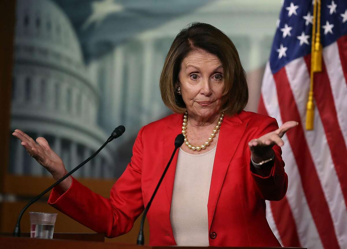 WASHINGTON, DC - SEPTEMBER 06: House Minority Leader Nancy Pelosi (D-CA) speaks to the media during her weekly news conference at the U.S. Capitol on September 6, 2018 in Washington, DC. (Photo by Mark Wilson/Getty Images)