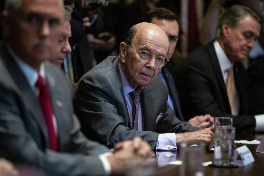 Wilbur Ross, the Trump administrations commerce secretary, attends a meeting at the White House June 20. The Supreme Court temporarily blocked a court order that would have required Ross to give a deposition in a lawsuit challenging the addition of a question concerning citizenship to the 2020 census. States and advocacy groups challenging a change to the census form said Ross shifting rationales required his testimony. Photo: AL DRAGO /NYT / NYTNS