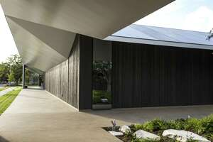 An exterior walkway is shown Menil Drawing Institute on Tuesday, Oct. 30, 2018, in Houston.