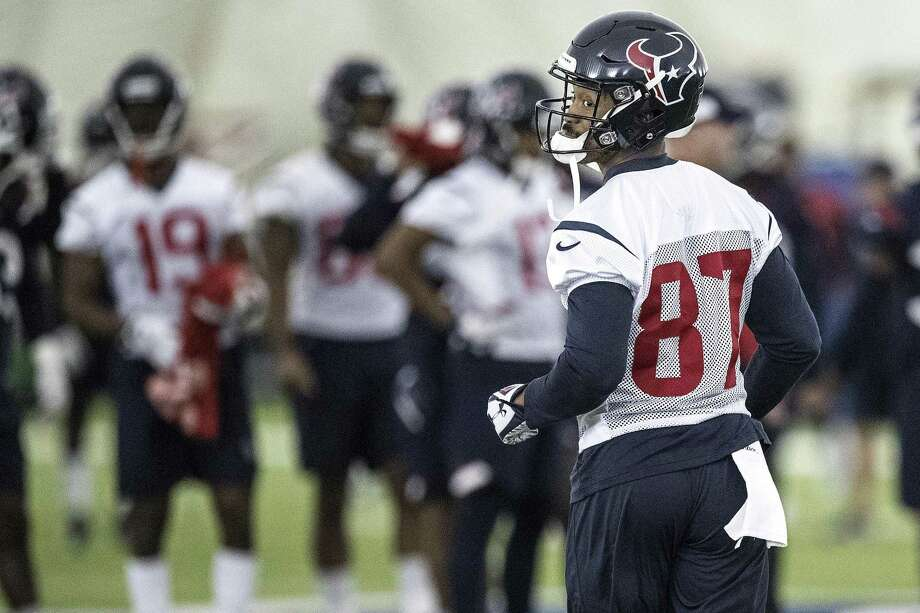 Houston Texans wide receiver Demaryius Thomas takes the practice field at The Methodist Training Center on Wednesday, Oct. 31, 2018, in Houston. Thomas was acquired by the Texans in an NFL trade deadline deal with the Denver Broncos. >>What to know about the newest Texans Photo: Brett Coomer, Houston Chronicle / Staff Photographer / © 2018 Houston Chronicle