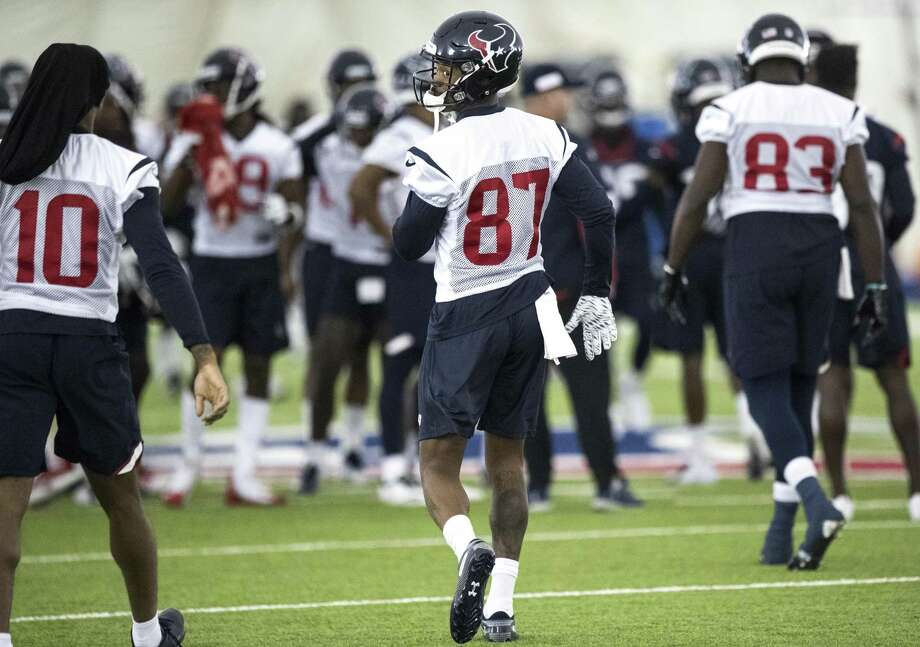 Houston Texans wide receiver Demaryius Thomas takes the practice field at The Methodist Training Center on Wednesday, Oct. 31, 2018, in Houston. Thomas was aquired by the Texans in an NFL trade deadline deal with the Denver Broncos. Photo: Brett Coomer, Houston Chronicle / Staff Photographer / © 2018 Houston Chronicle