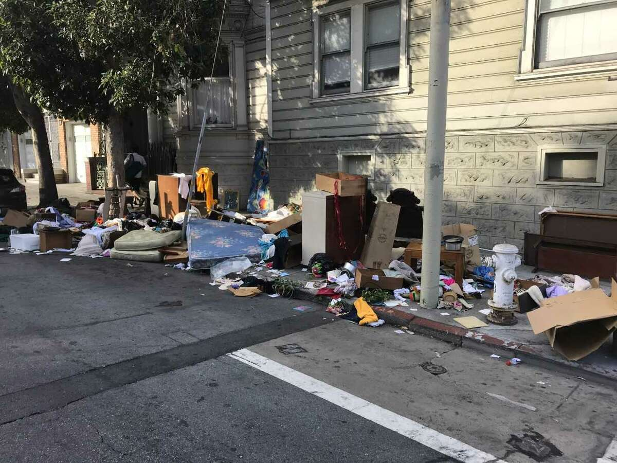 SF Public Affairs posted a photo of one illegal dumping site in the Mission on Oct. 29, 2018. Click on the slideshow ahead to see SF streets with the most illegal dumping service orders to Recology from Oct. 2017 to Sept. 2018.