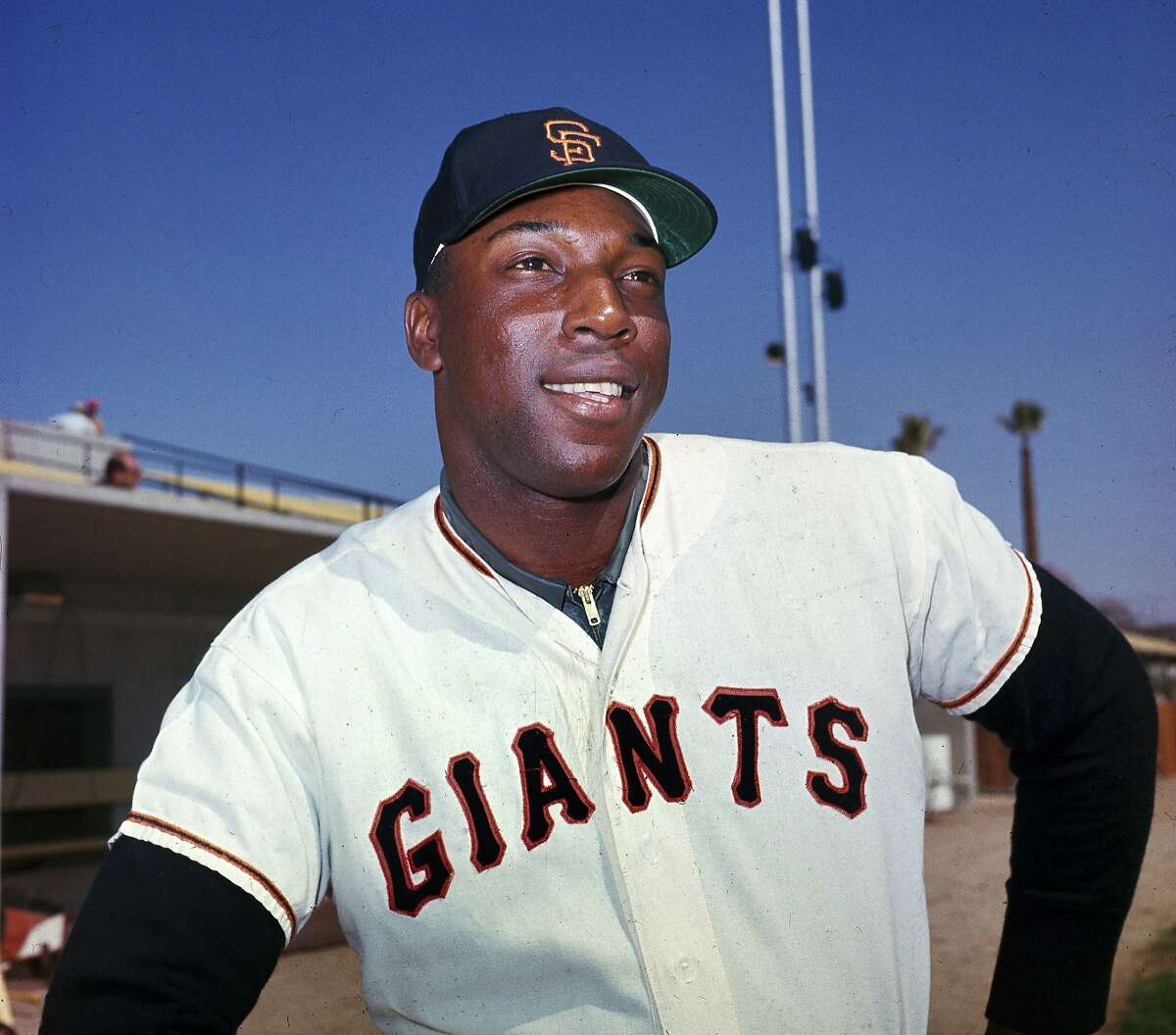"""FILE - In this April 1964 file photo, San Francisco Giants' Willie McCovey poses for a photo, date and location not known. McCovey, the sweet-swinging Hall of Famer nicknamed """"Stretch"""" for his 6-foot-4 height and those long arms, has died. He was 80. The San Francisco Giants announced his death, saying the fearsome hitter passed """"peacefully"""" Wednesday afternoon, Oct. 31, 2018, """"after losing his battle with ongoing health issues."""" (AP Photo, File)"""