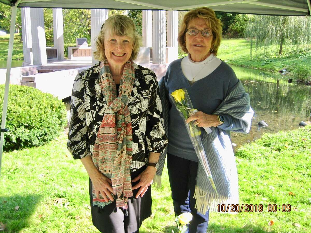 Charlanne Ryan-McDonough and State Sen. Betty Little attend a Gold Star Mothers event in Saratoga Springs. (Provided)