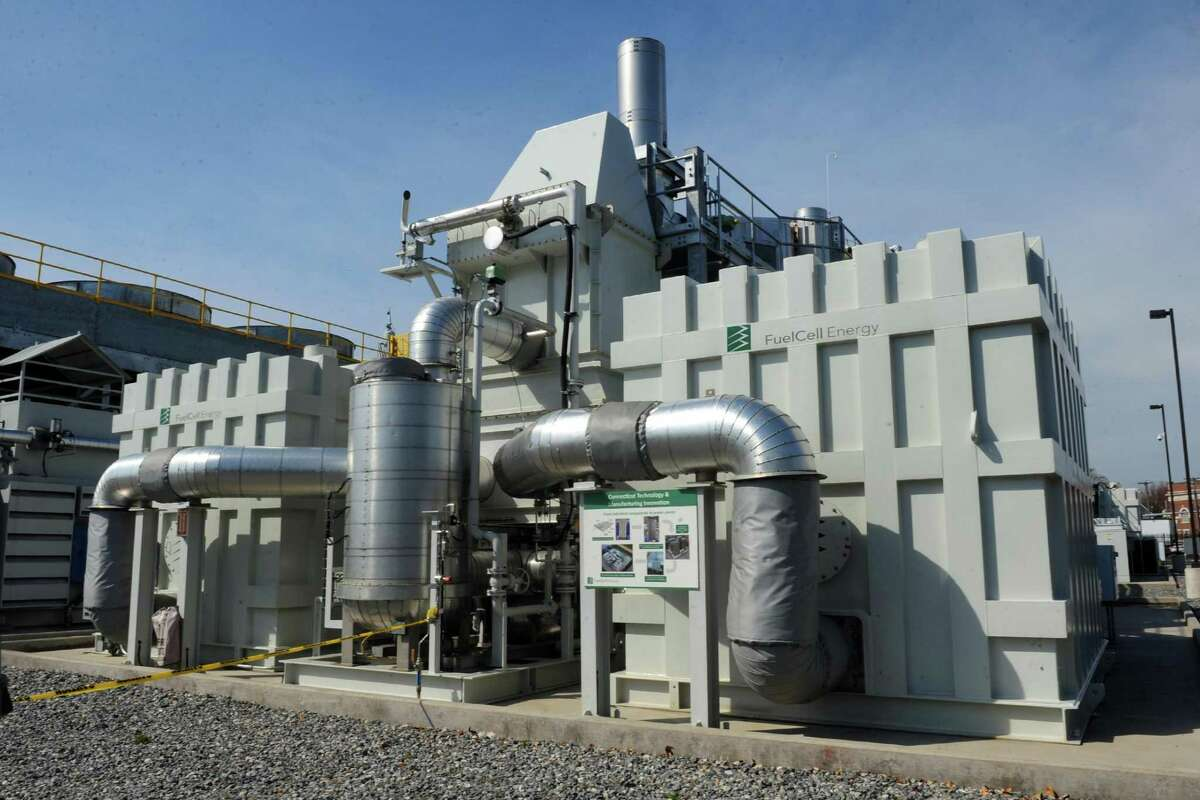 A FuelCell Energy installation in March 2016 in Bridgeport, Conn.