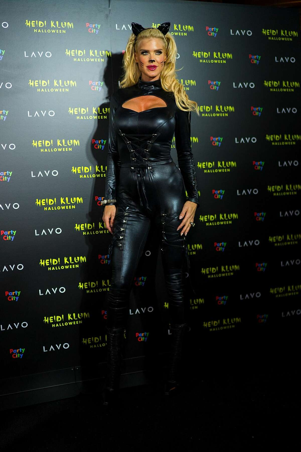 Victoria Silvstedt attends Heidi Klum's 19th Annual Halloween party at Lavo on October 31, 2018 in New York City. (Photo by TheStewartofNY/WireImage)