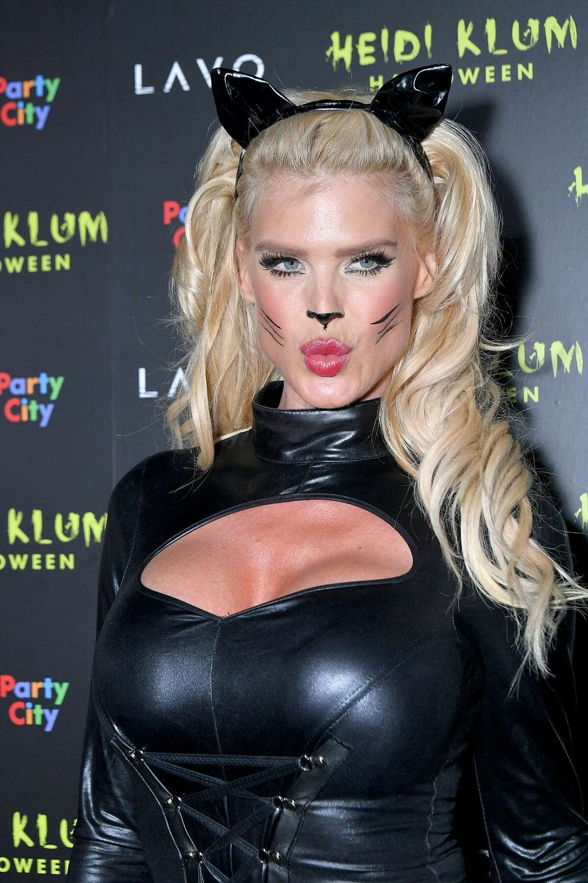 Model Victoria Silvstedt attends Klum's 19th Annual Halloween Party at Lavo on October 31, 2018 in New York City. (Photo by Michael Loccisano/Getty Images)