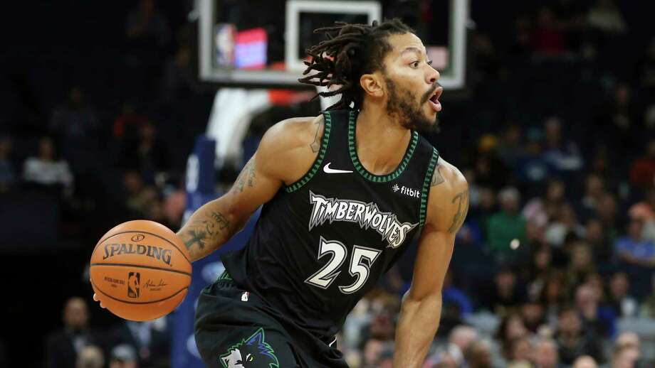 Minnesota Timberwolves' Derrick Rose plays against the Utah Jazz in the second half of an NBA basketball game against the Minnesota Timberwolves Wednesday, Oct. 31, 2018, in Minneapolis. (AP Photo/Jim Mone) Photo: Jim Mone, Associated Press / Copyright 2018 The Associated Press. All rights reserved.