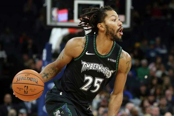 a68f9833ecb 1of3Minnesota Timberwolves  Derrick Rose plays against the Utah Jazz in the  second half of an NBA basketball game against the Minnesota Timberwolves ...
