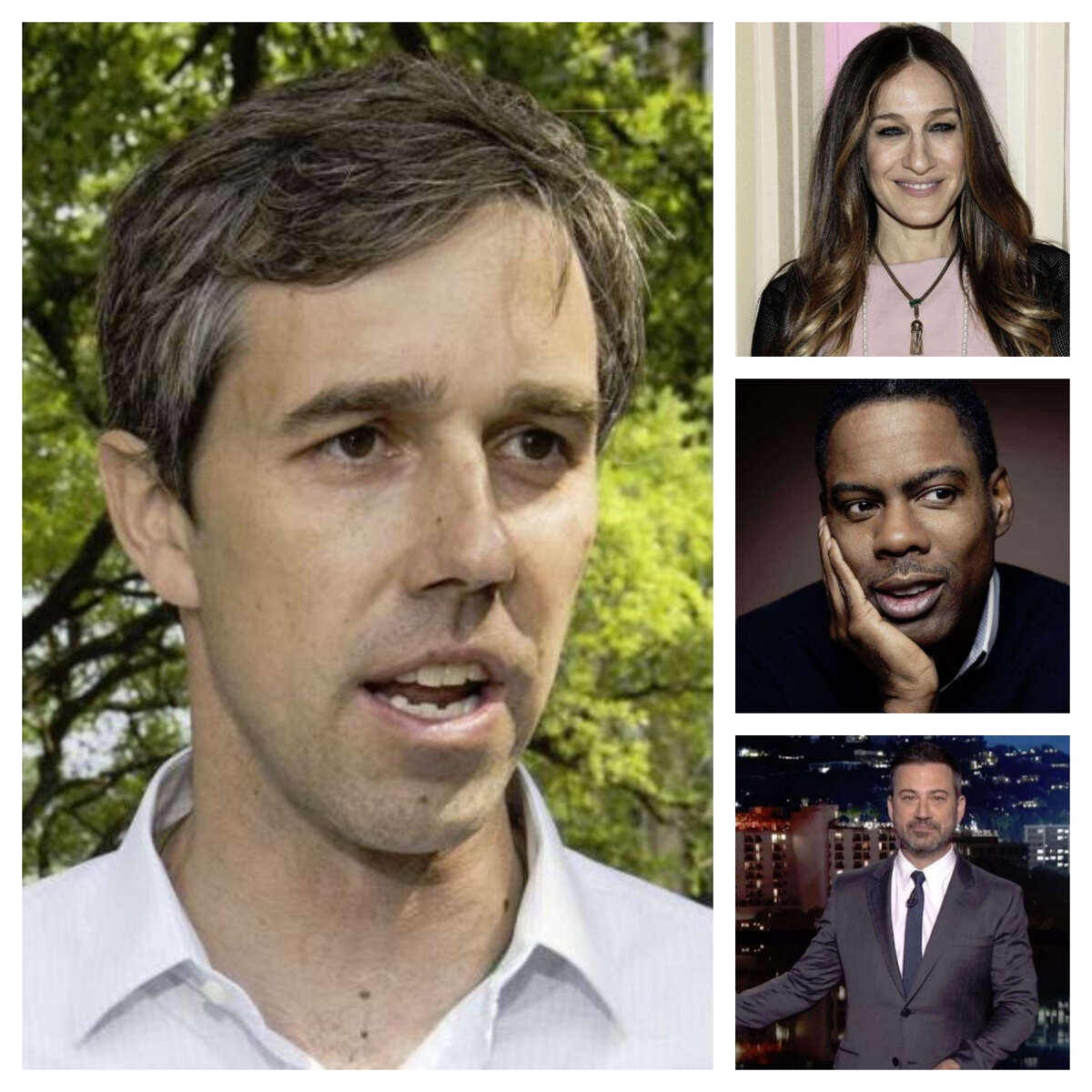 Hollywood celebrities can't get enough of Beto O'Rourke. Sarah Jessica Parker, Jimmy Kimmel,and Chris Rock have all donated to O'Rourke's campaign. Photos: Celebrities who have backed O'Rourke...