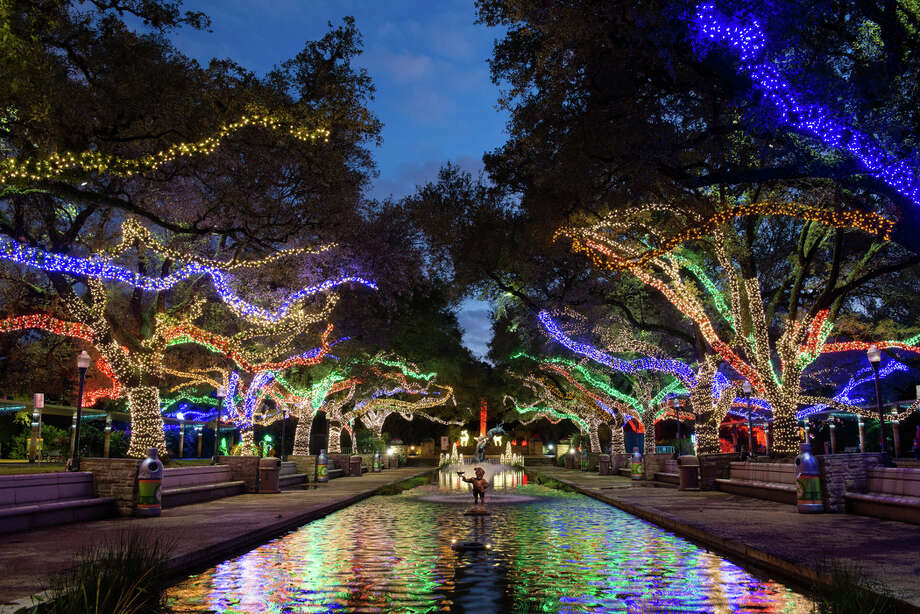 PHOTOS: Spending the holidays in the suburbs The Houston Zoo's annual Zoo Lights attraction will be closed on Friday night as wet weather makes its way through the area. It will reopen on Saturday evening. >>>See some of the coolest holiday things to do in the suburbs this season... Photo: Stephanie Adams /Houston Zoo