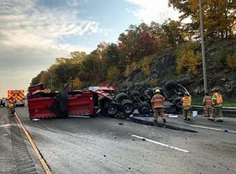Driver killed in dump truck crash also involved in July rollover