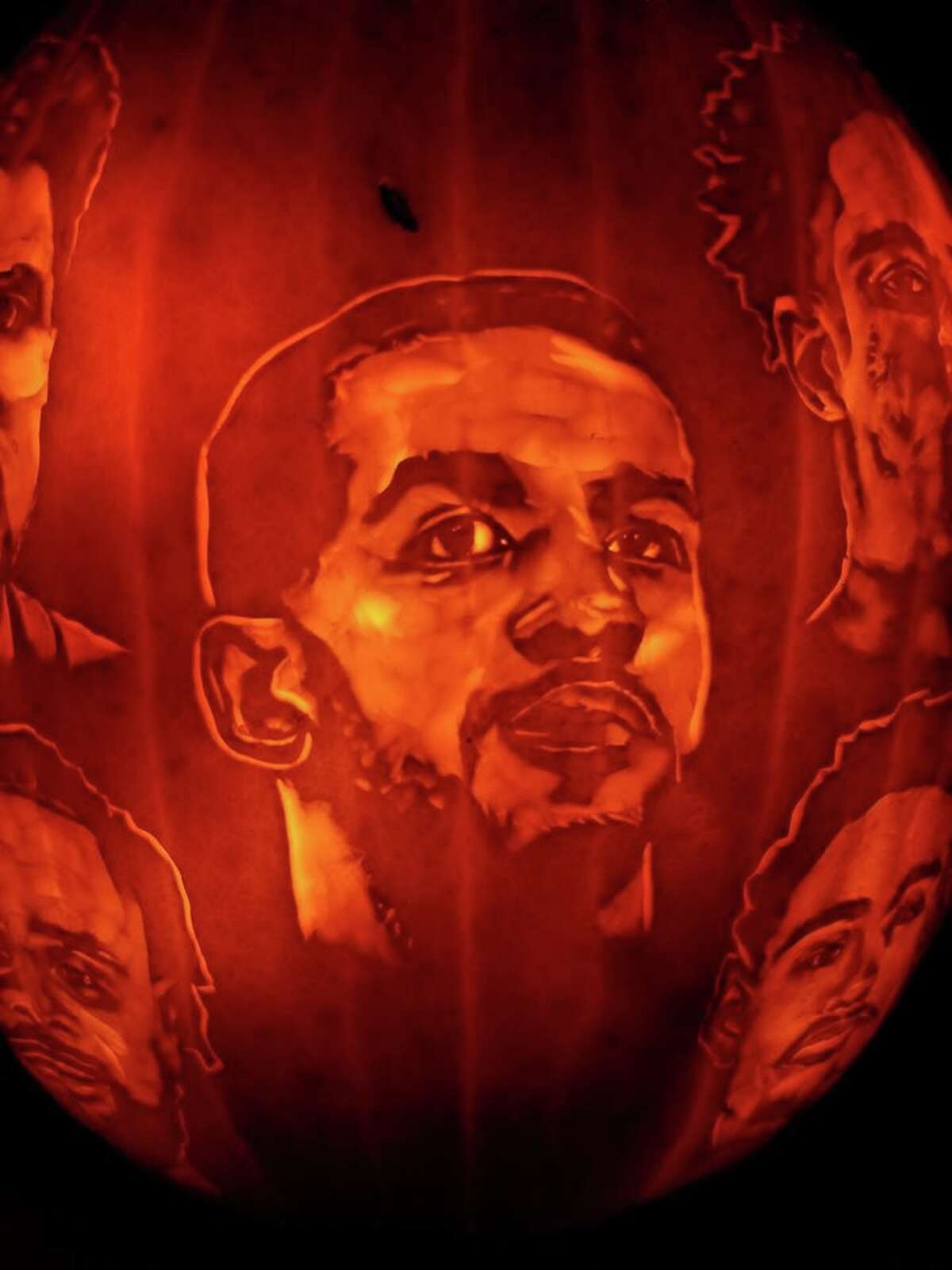 Arthur Alaquinez is San Antonio's standout pumpkin carving artist this fall. He grabbed social media attention in early October when he created an impressive Manu Ginobili carving. This week, he carved the Spurs starting roster.