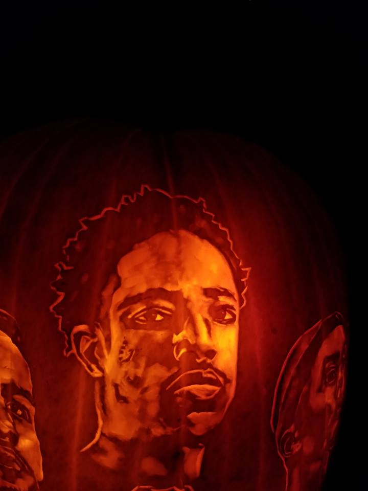 San Antonio pumpkin-carving artist does it again with the Spurs starters
