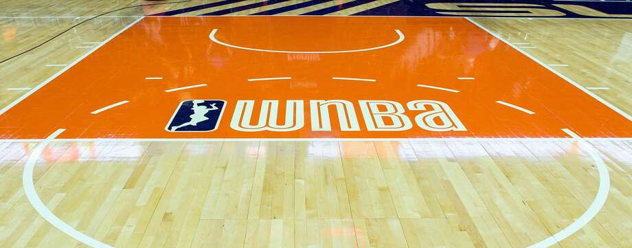 UNCASVILLE, CT - JUNE 27: A general view of the WNBA logo on June 27, 2018, at Mohegan Sun Arena in Uncasville, CT. Connecticut won 101-89. (Photo by M. Anthony Nesmith/Icon Sportswire via Getty Images) Photo: Icon Sportswire/Icon Sportswire Via Getty Images